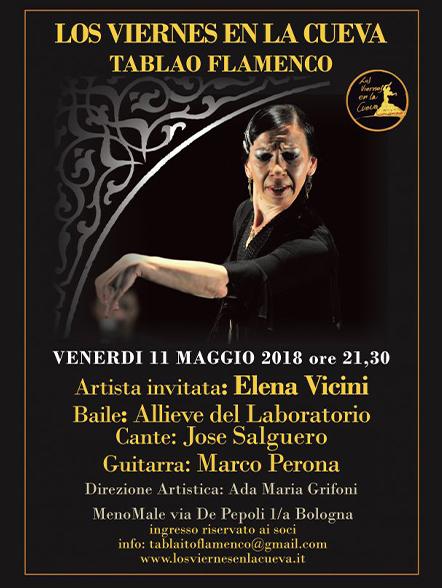 tablao flamenco Bologna centro Los Viernes en la Cueva Elena Vicini