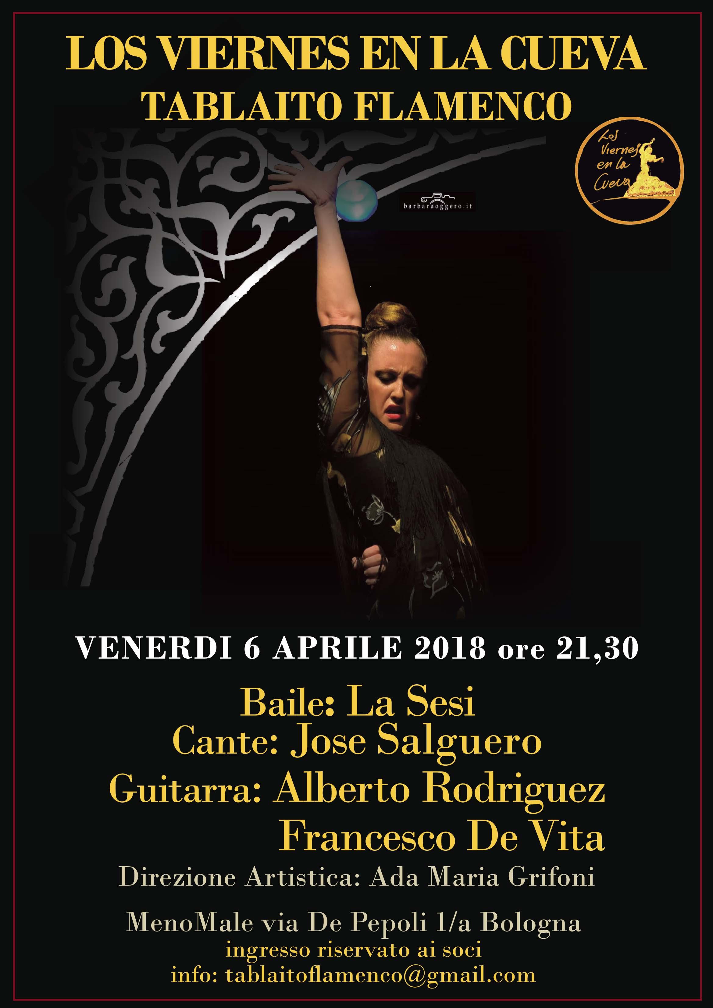 tablao flamenco Bologna centro Los Viernes en la Cueva La sesi