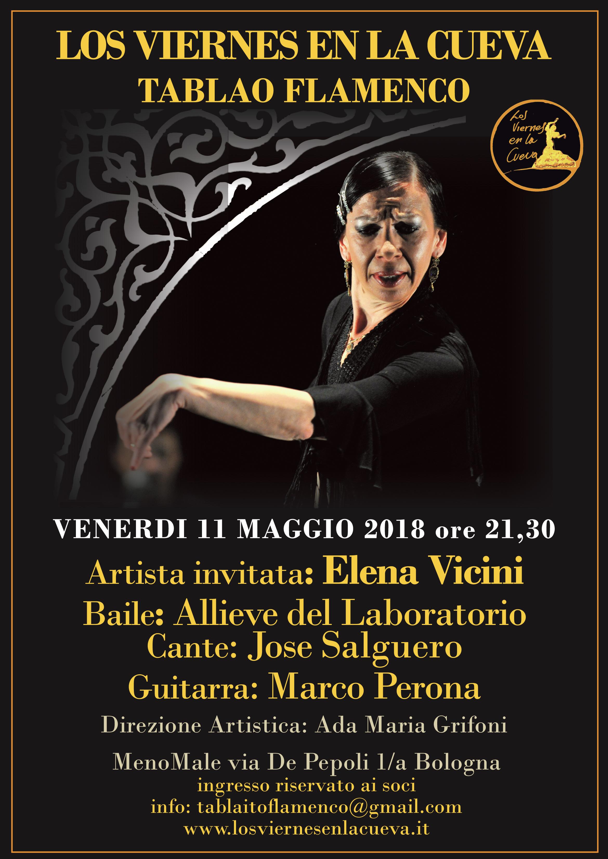 tablao flamenco Bologna centro elena Vicini Los Viernes en la Cueva