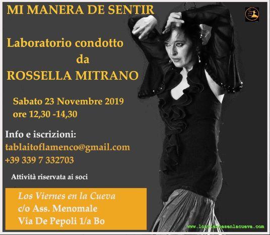 Los Viernes en la Cueva, flamenco, Bologna, stage