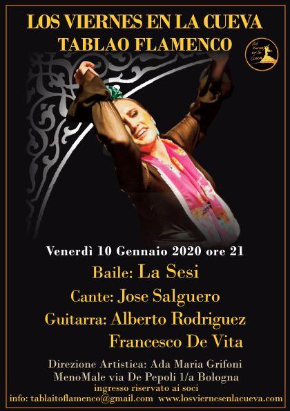 Los Viernes en la Cueva, flamenco Bologna, La Sesi