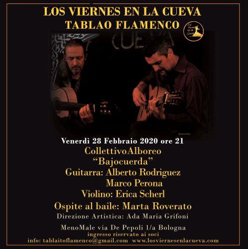 tablao,flamenco,corsi,bologna,alboreo, los viernes en la cueva