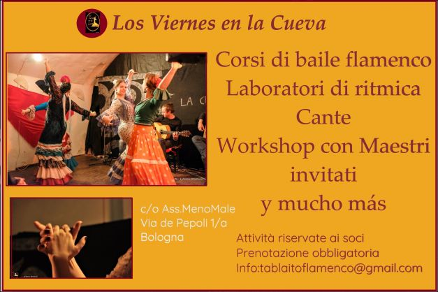 los viernes en la cueva, tablao, corsi di flamenco, Bologna,Ada Maria Grifoni